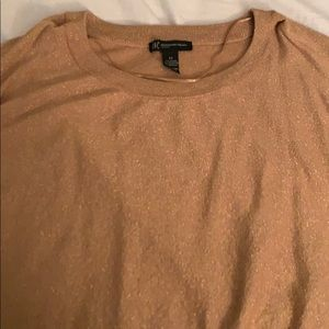 INC GOLD SHIMMER SWEATER 2x
